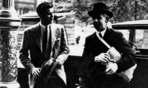 JFK, aged just 22, with Glasgow Provost Patrick Dollan at the City Chambers in 1939