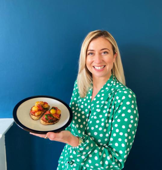 Sarah McMullan, Good Morning Britain's Scotland presenter – Posh tomatoes on toast
