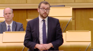 Tory MSP Oliver Mundell asked to leave chamber after calling Nicola Sturgeon a liar in parliament