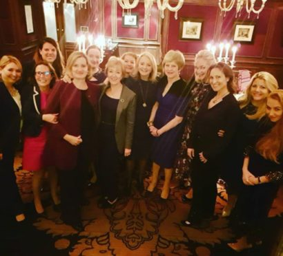 "Then prime minister Theresa May and six cabinet members enjoy a ""girls' night out"" with the wife of a former Russian minister and ally of Vladimir Putin, after she paid £135,000 for the privilege."