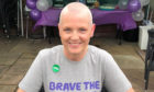 Wilma after her head was shaved to raise money for MacMillan Cancer Support.