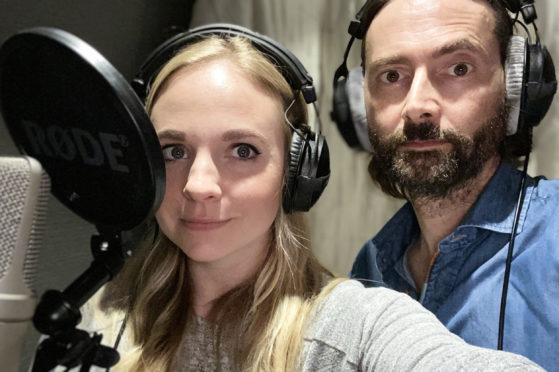 David Tennant and wife Georgia appearing on That Gaby Roslin Podcast