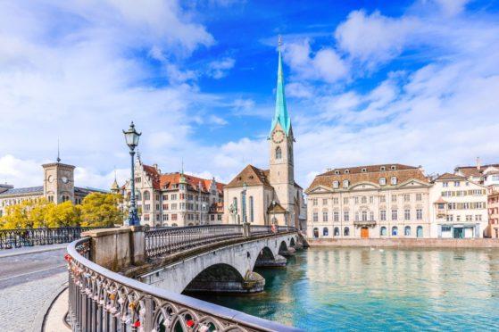 Munster bridge in Zurich