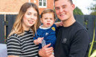 Christopher MacDonald, Shannen Innes and Jaxon (10 months) at their home in Bridge of Don Aberdeen.