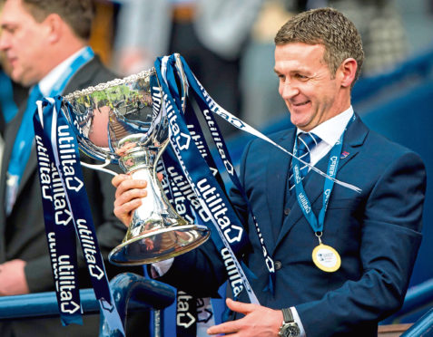 Jim McIntyre won the League Cup with Ross County in 2016.