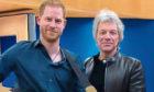 Prince Harry meets Jon Bon Jovi at Abbey Road Studios in London