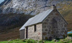 Corrour Bothy sits under Cairn Toul in Lairig Ghru mountain pass, Cairngorms