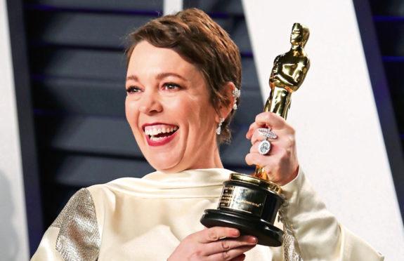 Olivia Colman at the Vanity Fair post-Oscars party