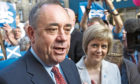 Then-FM Alex Salmond and Nicola Sturgeon in 2014