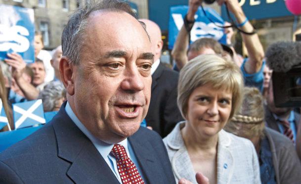 Then-FM Alex Salmond and Nicola Sturgeon in 2014