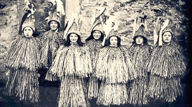 Skeklers in Shetland, which is an ancient form of guising