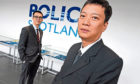 Vietnamese police officers Hiep Nguyen and Duy Nguyen at Police Scotland HQ in Dalmarnock, Glasgow