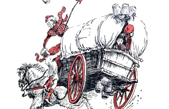 An illustration from the over of Auntie Robbo, one of the republished books