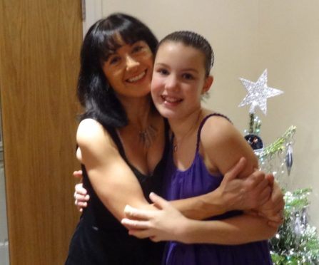 Ruth Moss and daughter Sophie, Christmas 2011, before Sophie took her own life, aged 13.