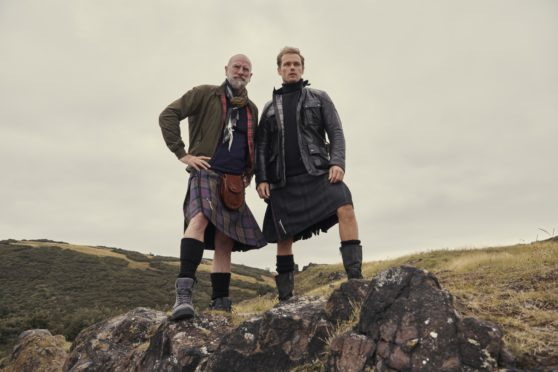 Close friends and co-stars Graham McTavish, left, and Sam Heughan in TV travelogue Men In Kilts