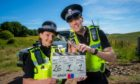Ashley Smith, with Chris Forbes in Scot Squad, which has just wrapped filming of a sixth series