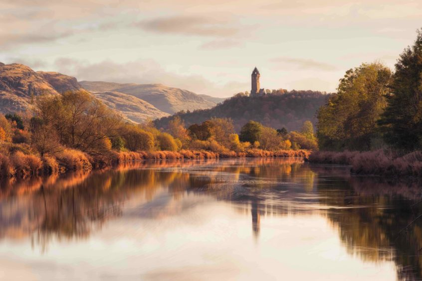 Graham Mackay, 'Wallace Monument from the banks of the Forth'