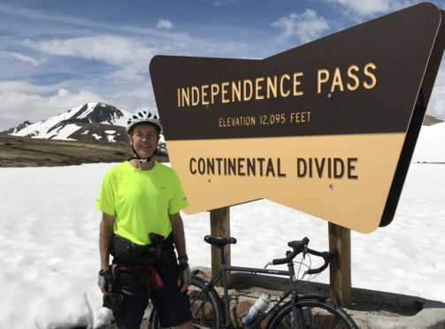 George Russell at Independence Pass.