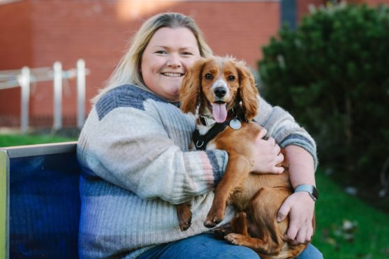Kirsty Munro with Logan, the Cocker Spaniel, who she picked up just before lockdown
