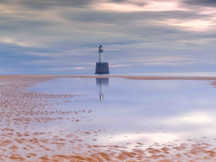 Neil Fraser, 'Sunset at Rattray Head Lighthouse'