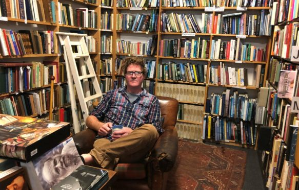 Shaun Bythell at The Bookshop in Wigtown, Dumfries and Galloway