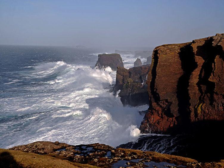 Eshaness Cliffs.