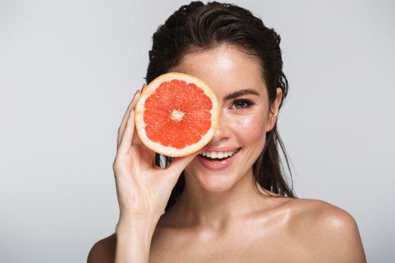 Delicious vitamin sources such as grapefruit nourish our bodies