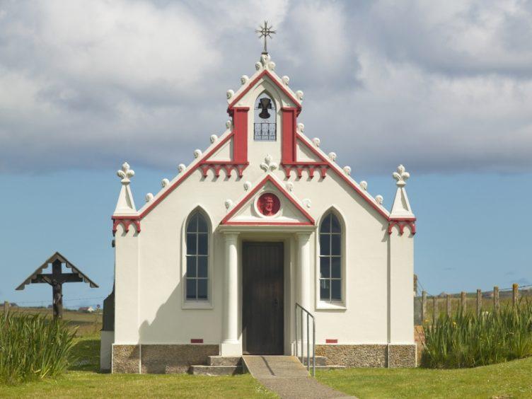 The Italian Chapel.