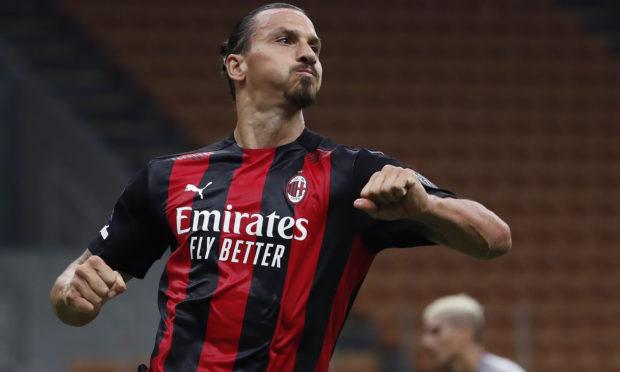 AC Milan's Zlatan Ibrahimovic