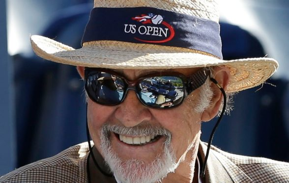 Sir Sean watches Andy play in the 2012 US Open