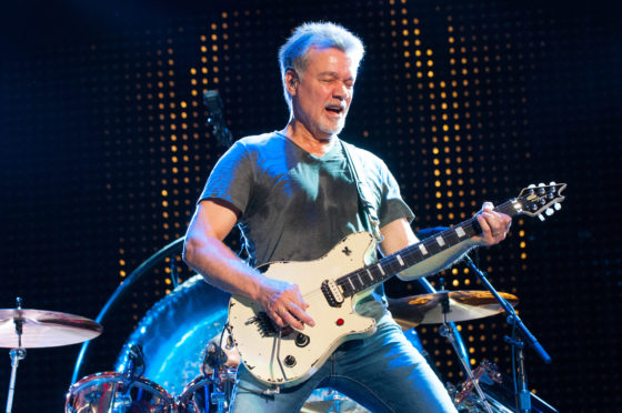Eddie Van Halen on stage in 2015