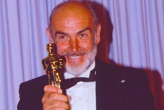 Sir Sean with his Oscar