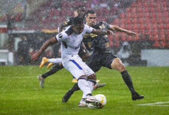 Alfredo Morelos in action against Standard Liege