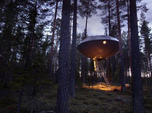 UFO hotel room TreeHotel, Sweden - .