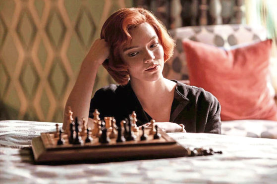 The Queen's Gambit, currently streaming on Netflix.