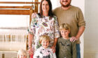 Aberdeen engineer Arran Bastable who owns and runs Barrydale Weavers in South Africa, with his wife Kate, 40, and their children Rory, 7, Pippa, 5, and Morven, 2.
