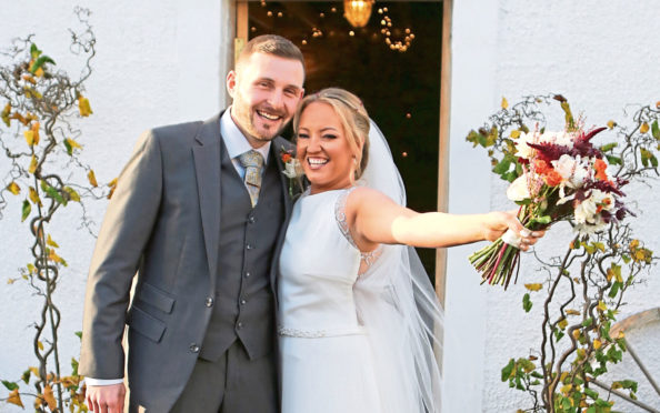 Nicky and Lindsey celebrate tying the knot on Friday