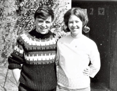 Tom Pitcairn with his wife, Issy in younger, happier times.