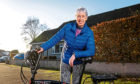Muriel Knox from Aberdeen with her electric bike.