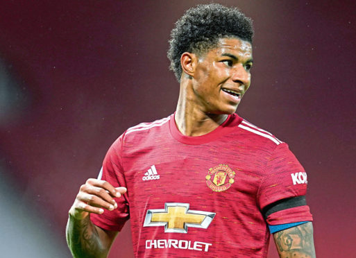 Mark Rashford who has campaigned against child poverty and led the campaign to ensure free school meals for children in England during school holidays.