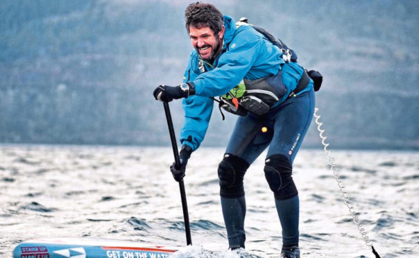 Jordan Wylie, known for being on the TV show Hunted - is attempting to be the first to circumnavigate mainland Britain on a stand-up paddle board.