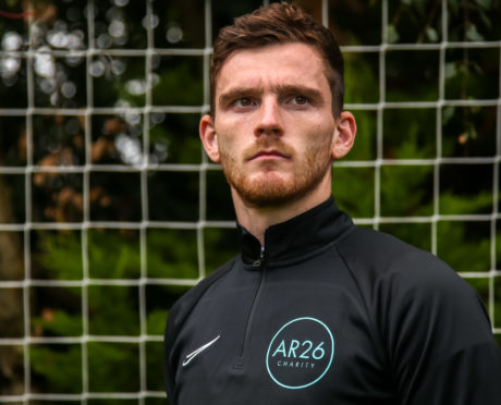 Scotland captain, Andy Robertson whose new charity AR26 launches this weekend.