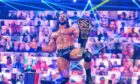 "Drew McIntyre wins the WWE title in front of a virtual crowd in the wrestling company's ""Thunderdome"" arena"