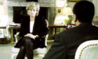 Princess Diana speaks to Martin Bashir during the famous interview for BBC's Panorama in 1995