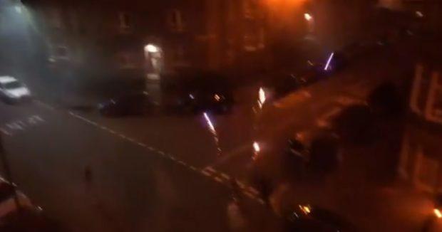 Fireworks in Shawlands, Glasgow.