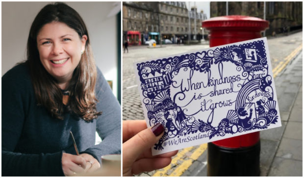 Emily Hogarth designed the postcards for the new Scottish Government campaign