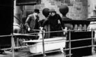 The bath where Bella Kerr and Mary Rogerson were dismembered arrives at Glasgow University to be examined by experts