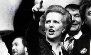 Margaret Thatcher in London, 1983