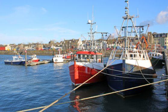 Fishing boats in Stranraer Harbour