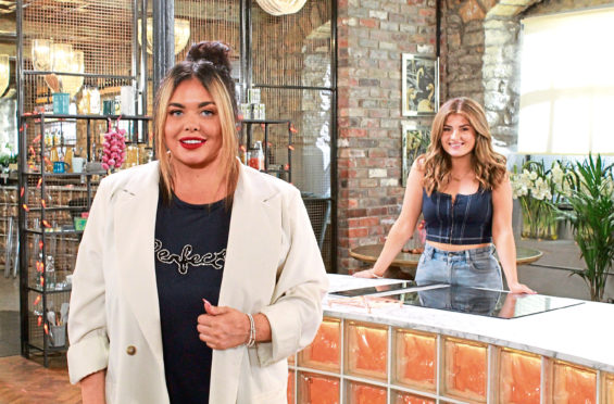 Scarlett Moffat with Ellie Tyrrell on new  food-based dating show Love Bites